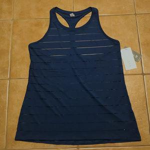 NWT - Athleta Striped Blue Tank Top